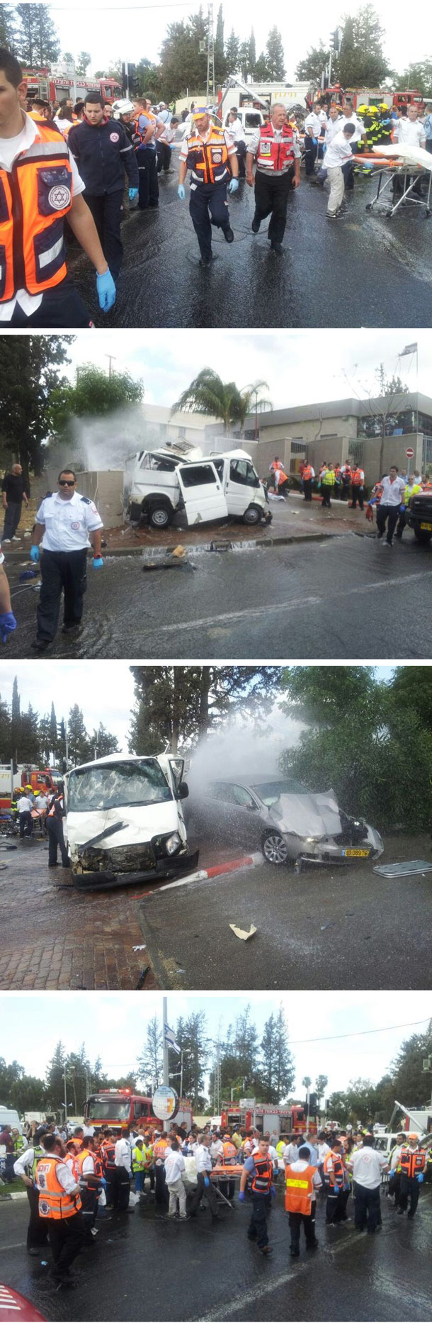 """זירת התאונה (צילום: דובר מד""""א כרמל)"""